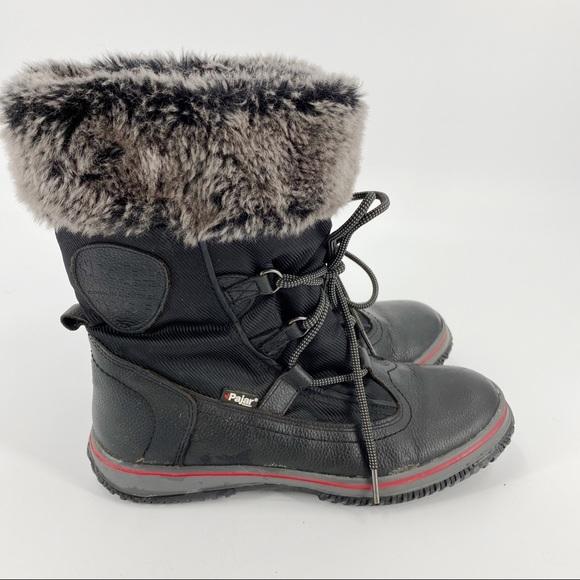 Pajar leather black winter snow boots